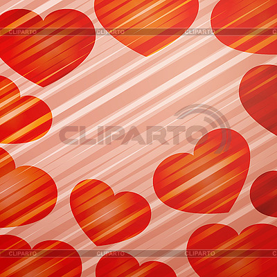Background of bright hearts | Stock Vector Graphics |ID 3117647