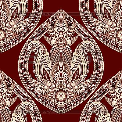 Nahtloser orientalischer Paisley-Hintergrund | Illustration mit hoher Auflösung |ID 3125409