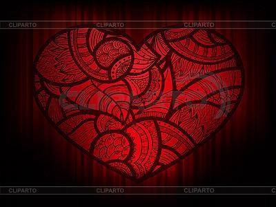 暗红色的心装饰 | 向量插图 |ID 3125610
