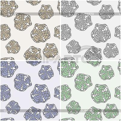 Nahtlose Muster mit abstrakten Blumen | Stock Vektorgrafik |ID 3126517
