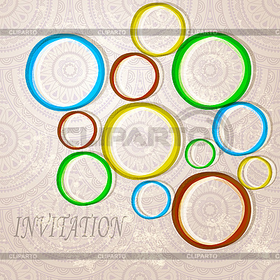 Invitation with bright circles | Stock Vector Graphics |ID 3127800
