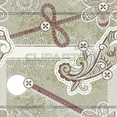 Seamless vintage scrap template design | High resolution stock illustration |ID 3148506