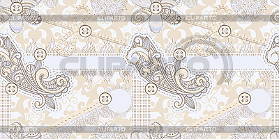 Seamless vintage scrap template design | Stock Vector Graphics |ID 3149504