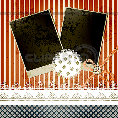 Scrapbook template design with two frames   Stock Vector Graphics  ID 3165420