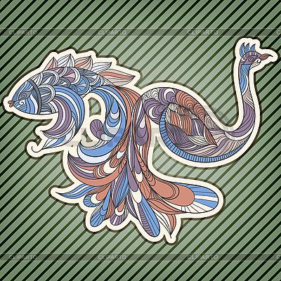 Ryb i ptaków z podłączonych ogony | Klipart wektorowy |ID 3165426