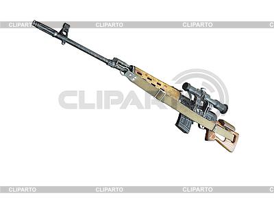 Sniper rifle MMG SVD przez Dragunov z optyką | Foto stockowe wysokiej rozdzielczości |ID 3045309