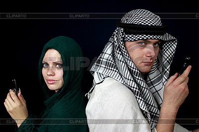 Arabs calling by mobile phone | High resolution stock photo |ID 3059865