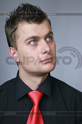 Mann in eine Krawatte | Foto mit hoher Auflösung |ID 3060096