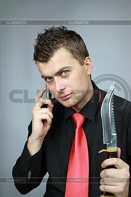 Mann spricht per Telefon | Foto mit hoher Auflösung |ID 3060098