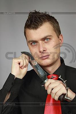 Człowiek walczy nóż | Foto stockowe wysokiej rozdzielczości |ID 3060099