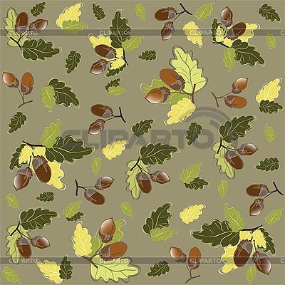 Herbst-Hintergrund mit Eicheln | Stock Vektorgrafik |ID 3060959