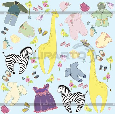 Children`s background with animals | Stock Vector Graphics |ID 3070256