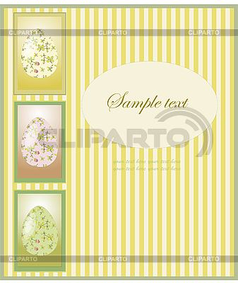Vintage Easter card with eggs   Stock Vector Graphics  ID 3070754