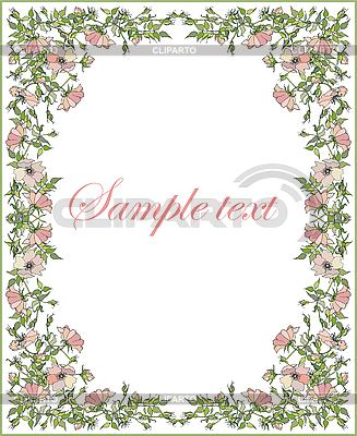 꽃 프레임 인사말 카드 | 벡터 클립 아트 |ID 3070947