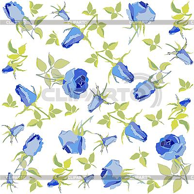 Background of blue roses | Stock Vector Graphics |ID 3071245