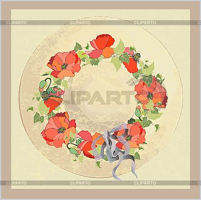 Vintage hat with poppies | Stock Vector Graphics |ID 3071271