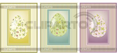 Vintage Easter cards with eggs | Stock Vector Graphics |ID 3071295