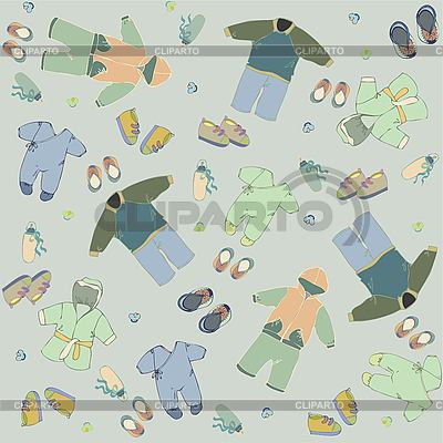 Set of clothes for newborn boy | Stock Vector Graphics |ID 3071324