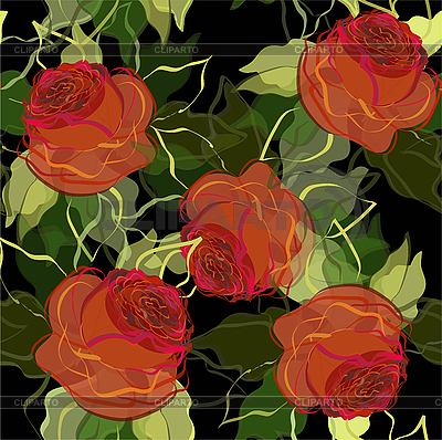 Floral background of roses   Stock Vector Graphics  ID 3071370