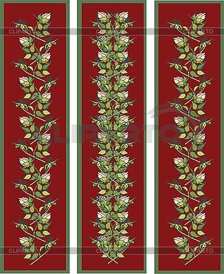 垂直横幅花元素 | 向量插图 |ID 3071398
