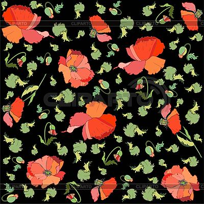 Background of poppy flowers   Stock Vector Graphics  ID 3071629