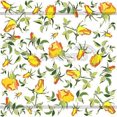 Tło żółte róże | Klipart wektorowy |ID 3071637