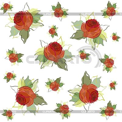 Floral background of roses | Stock Vector Graphics |ID 3073390
