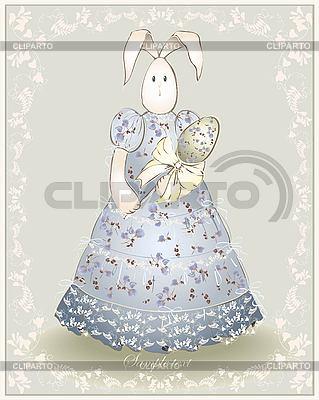 부활절 카드 - 계란 부활절 토끼 | 벡터 클립 아트 |ID 3187370