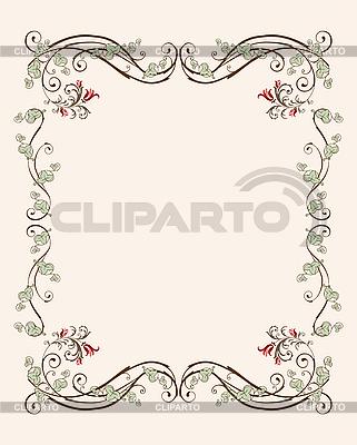 Floraler Rahmen mit Tulpen   Stock Vektorgrafik  ID 3045810