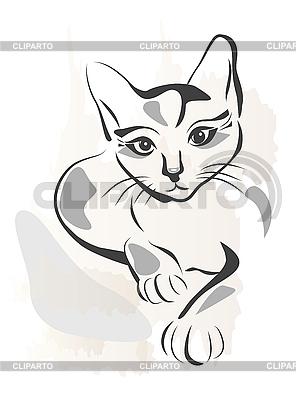 Schwarze Katze | Stock Vektorgrafik |ID 3045944