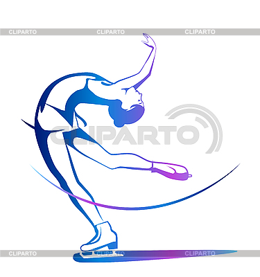 Winter sport. Ladies figure skating. Ice show | Stock Vector Graphics |ID 3045954