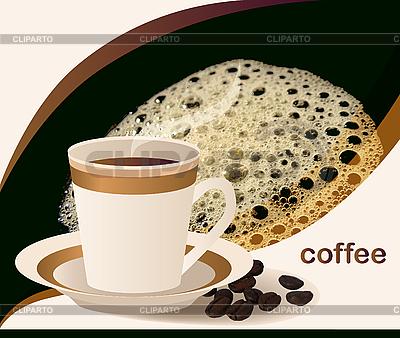 Tasse Kaffee und Kaffeebohnen | Stock Vektorgrafik |ID 3045997