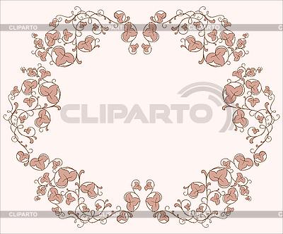 Flower vignette | Stock Vector Graphics |ID 3047502