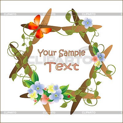 Frame for picture with flowers | Stock Vector Graphics |ID 3047518