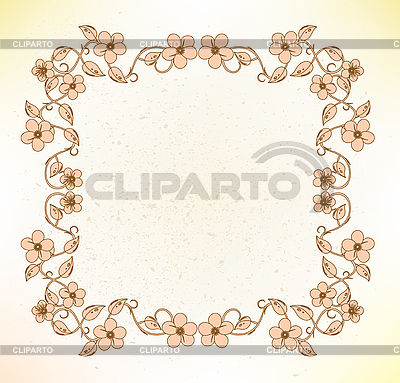 Blumenrahmen   Stock Vektorgrafik  ID 3047580