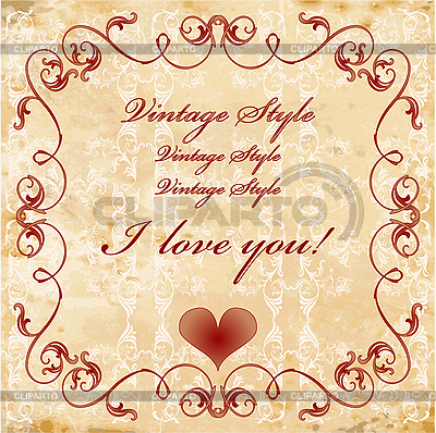 Vintage valentines day card | Stock Vector Graphics |ID 3047677