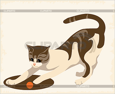 Playing cat | Stock Vector Graphics |ID 3051072