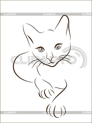 Cat silhouette | Stock Vector Graphics |ID 3051416