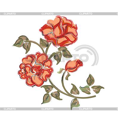 빨간 장미 | 벡터 클립 아트 |ID 3053743