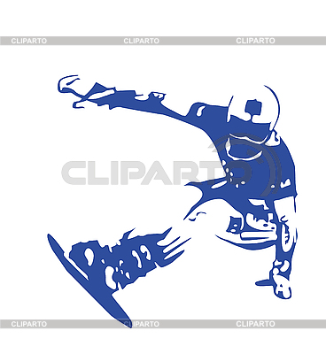 Silhouette of jumping snowboarder | Stock Vector Graphics |ID 3053755