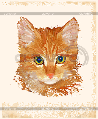 Ginger cat | Stock Vector Graphics |ID 3058813