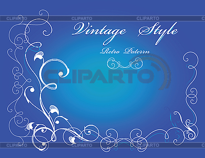 Blue floral card   Stock Vector Graphics  ID 3061221