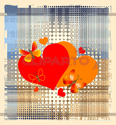 Valentine's card with hearts | Stock Vector Graphics |ID 3062043