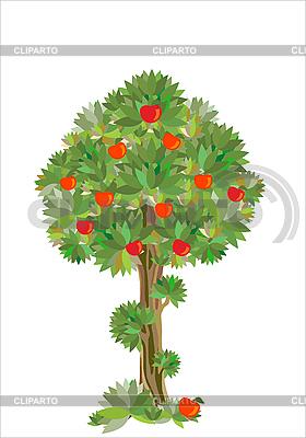 양식에 일치시키는 사과 나무 | 벡터 클립 아트 |ID 3062078