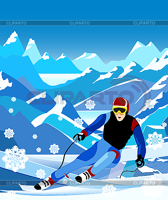 Skier | Stock Vector Graphics |ID 3063159