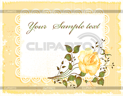 Old greeting card with rose | Stock Vector Graphics |ID 3063196
