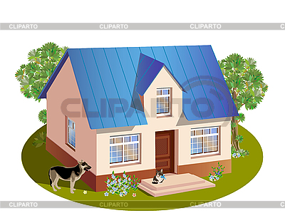 Model of three dimensions house | Stock Vector Graphics |ID 3068216