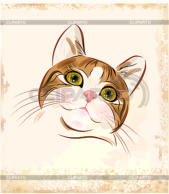 Portrait of ginger tabby cat | Stock Vector Graphics |ID 3068265