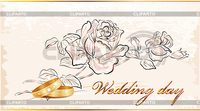Vintage wedding card | Stock Vector Graphics |ID 3068295