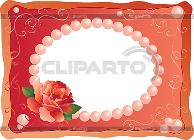 Frame with rose | Stock Vector Graphics |ID 3076881